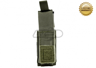 Pantac USA 1000D Cordura Molle Single .45 Mag Pouch With Hard Insert ( Ranger Green )