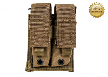 Pantac USA 1000D Cordura Molle 9mm Double Magazine Pouch ( Coyote Brown )