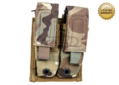 Pantac USA 1000D Cordura Molle 9mm Double Magazine Pouch ( Multicam )