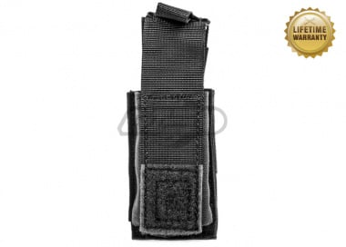 Pantac USA 1000D Cordura Molle 9mm Single Mag Pouch W/ Hard Insert ( Black )