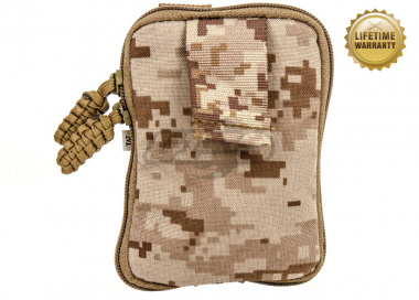 Pantac USA 1000D Cordura Molle Zippered Drop Pouch ( Medium / Desert Digital )