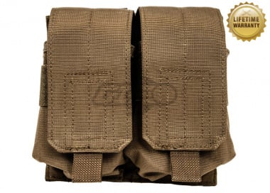 Pantac USA 1000D Cordura Molle M14 Double Mag Pouch ( Coyote Brown )