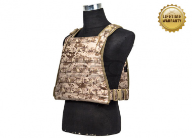 Pantac USA 1000D Cordura Chest Plate Carrier ( Desert Digital / Large )