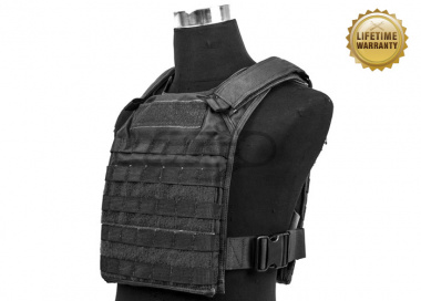 Pantac USA 1000D Cordura Molle Tactical Plate Carrier ( Black / Large )