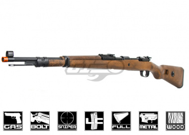 Red Fire Full Metal Kar-98k Gas Powered Bolt Action Rifle Airsoft Gun ( Real Wood Stock )