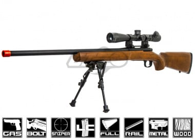 Red Fire Full Metal M700 Gas Powered Bolt Action Sniper Rifle Airsoft Gun ( Real Wood Stock )