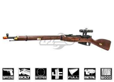 Red Fire Mosin Nagant Model 1891/30 Sniper with PU Scope (Spring Power) Airsoft Gun