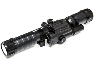 Spartan 3-9X32 Variable Scope with Integrated Laser and Scope Rings