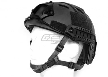 Spartan Head Gear PJ Type Helmet ( Black )