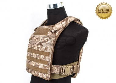 Pantac USA 1000D Cordura Molle Tactical Plate Carrier ( Desert Digital / Large )