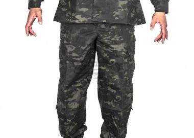 Tru-Spec Tactical Response BDU Pants 50/50 Nylon Cotton Ripstop ( Multicam Black S / M / L / XL )