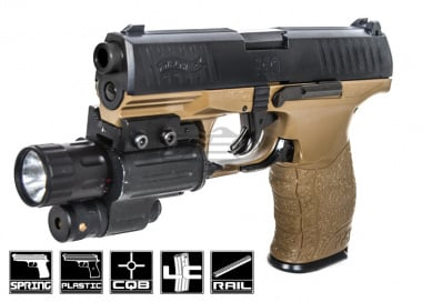Elite Force Walther PPQ Spring Powered Pistol Airsoft Gun ( 2 Tone )