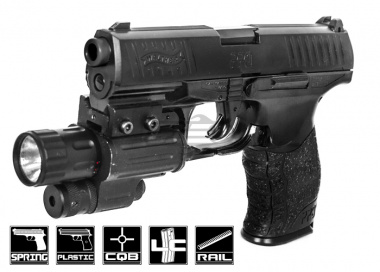 Elite Force Walther PPQ Spring Powered Pistol Airsoft Gun ( Black )