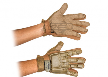 V-Tac Armored Full Finger Gloves ( Tan / Small )