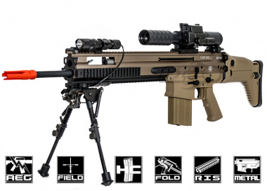 WE Full Metal SCAR-H MK17 SSR AEG Airsoft Gun ( Tan )