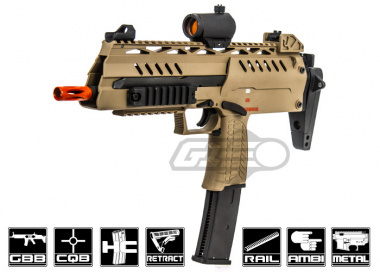 WE SMG8 Gas Blow Back Airsoft Gun ( Tan )