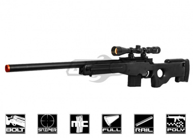 Well L96 Compact Bolt Action Sniper Rifle Airsoft Gun ( Black )