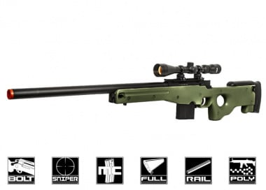 Well L96 Compact Bolt Action Sniper Rifle Airsoft Gun ( OD )