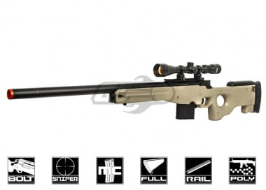 Well L96 Compact Bolt Action Sniper Rifle Airsoft Gun ( Tan )