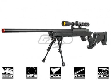 Well L96 Target Shooting Bolt Action Airsoft Sniper Rifle Airsoft Gun ( Black )