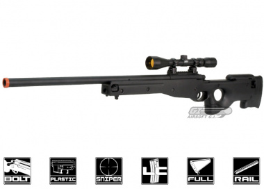 AGM Full Metal MK96 AWP Bolt Action Sniper Rifle Airsoft Gun ( BLK )