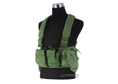 Airsoft GI BCT-3 Essential M4 / AK Ammo Chest Rig ( OD / Tactical Vest  )