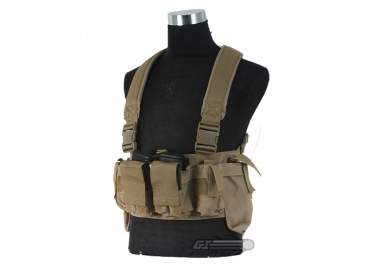 Airsoft GI BCT-3 Essential M4 / AK Ammo Chest Rig ( Tan / Tactical Vest  )