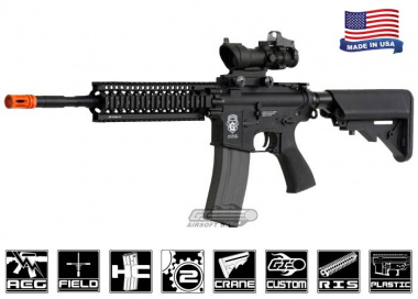 "Airsoft GI G4-A1 w/ Daniel Defense 9"" Lite Rail Blowback Version AEG Airsoft Gun ( Custom / No Iron Sights )"