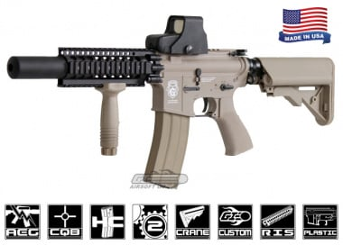 Airsoft GI Desert G4-A2 Silent Death Blowback Version AEG Airsoft Gun ( Tan / Custom )