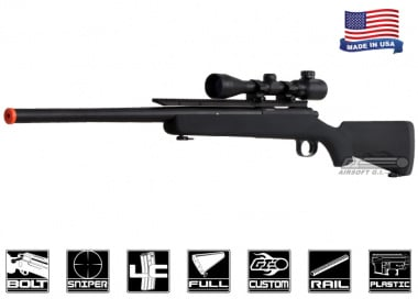 Airsoft GI Full Metal G700G Upgraded Bolt Action Sniper Rifle Airsoft Gun ( BLK / Scope Package )