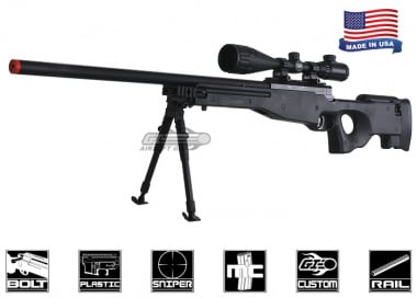 Airsoft GI Full Metal Fully Upgraded G98 Bolt Action Sniper Rifle Airsoft Gun ( BLK )