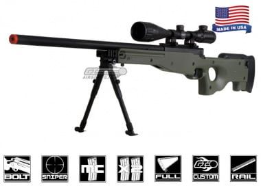 Airsoft GI Full Metal Fully Upgraded G98 Bolt Action Sniper Rifle Airsoft Gun ( OD )