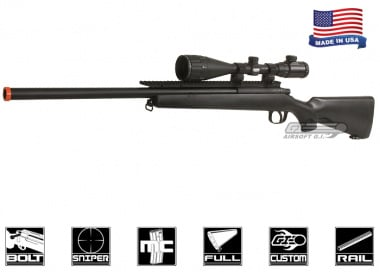 AGM Full Metal MP-001 Plus Bolt Action Sniper Rifle Airsoft Gun ( BLK / Preinstalled 6.01MM Precision Barrel w/ Extended Rail )