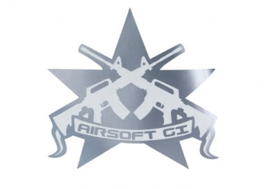 Airsoft GI Battle Star Sticker ( Silver )