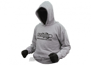Airsoft GI Hooded Sweatshirt ( Gray / M )