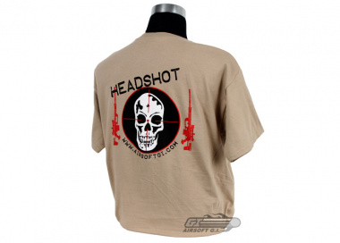 Airsoft GI Headshot T-Shirt ( Tan / XXL )