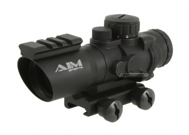 * Discontinued * AIM Sports 4x32 Tri-Illuminated Scope w/ Single Weaver Rail ( Ver.2 )