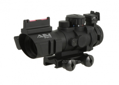 AIM Sports Fiber Optic 4x32 Red / Green / Blue Dot Tactical Compact Scope ( Ver.2 )