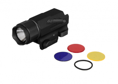 AIM Sports 150 Lumens Flashlight w/ 3 Color Filter Lenses
