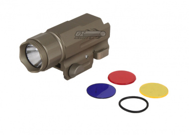 ( Discontinued ) AIM Sports 150 Lumens Limited Edition Flashlight w/ 3 Color Filter Lenses ( Tan )