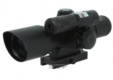 AIM Sports 2.5-10x40 Dual Illuminated Scope ( w/ Green Laser )