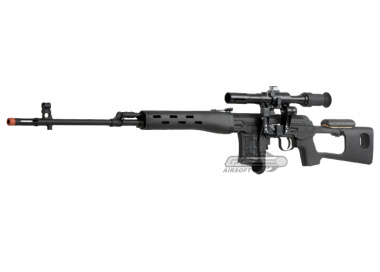 A&K Full Metal SVD Spring Sniper Rifle Airsoft Gun ( BLK )