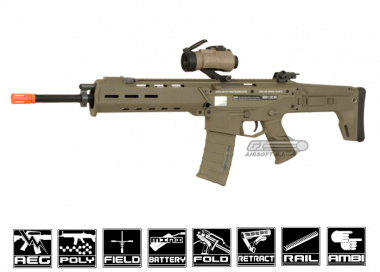 A&K Full Metal Magpul Masada Airsoft Gun ( Licensed Trademarks / Tan )