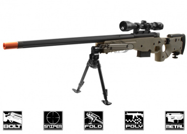 ARES Full Metal AW-338 Spring Powered Bolt Action Sniper Rifle Airsoft Gun ( OD / CNC Licensed Edition )