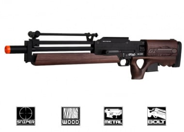 ARES Full Metal / Real Wood WA 2000 Bolt Action Sniper Rilfe Airsoft Gun ( Official Walther License )