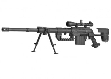ARES Full Metal M200 Spring / Gas Powered Bolt Action Sniper Rifle Airsoft Gun ( BLK )