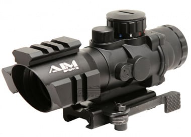 AIM Sports 4x32 Tri-Illuminated Scope w/ Tri-Rail Arrow Reticle & QD Mount