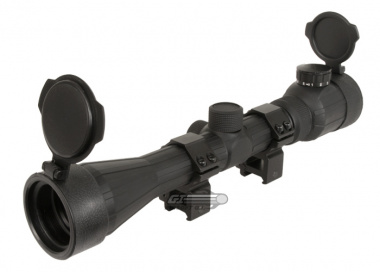 Bravo 3-9X40 OE Scope ( Red & Green Illuminated w/ Scope Rings )