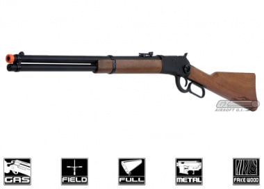 BRAVO Full Metal / Fake Wood 1892 Lever Action Gas Rifle Airsoft Gun