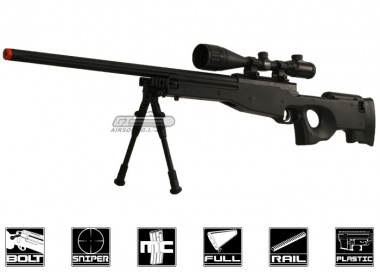 Bravo Full Metal MK98 Bolt Action Sniper Rifle Airsoft Gun ( BLK / Bipod Package )